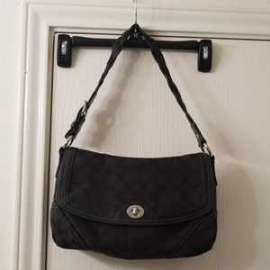 Authentic Coach Black small off the shoulder Purse